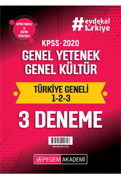 2020 Kpss Genel Yetenek Genel Kültür Türkiye Geneli Deneme (1.2.3) 3`Lü Deneme Seti