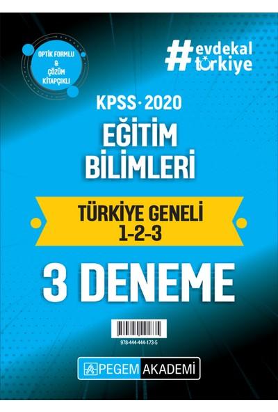 2020 Kpss Eğitim Bilimleri Türkiye Geneli Deneme (1.2.3) 3`Lü Deneme Seti