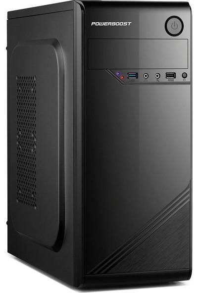 Power Boost VK-1621 400W USB 3.0 ATX Shiny Piano Siyah Bilgisayar Kasası (JBST-VK1621)