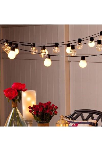 Buffer Minik Top 40 Ledli Dolama Pilli Dekor Işıkları Sarı 5 m