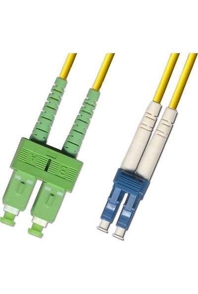 Oem Sc-Apc/lc Sm Dublex Fiber Optik Patch Cord Kablo - 1 mt