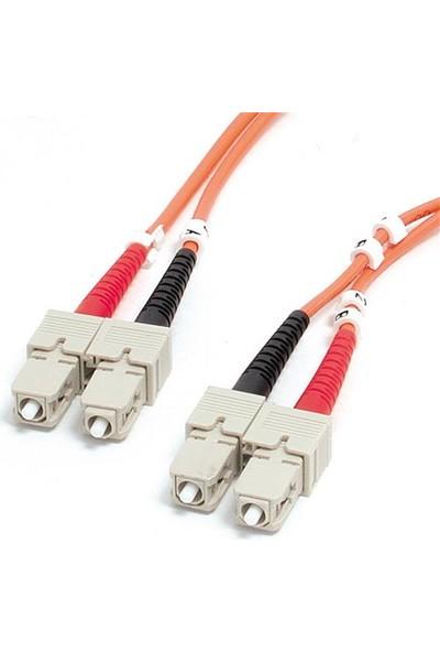 Oem Sc-Sc mm Dublex Fiber Optik Patch Cord Kablo - 1 mt