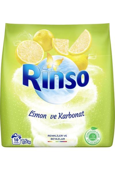 Rinso Limon ve Karbonat Renkliler ve Beyazlar için Toz Çamaşır Deterjanı 1.5 KG 10 Yıkama