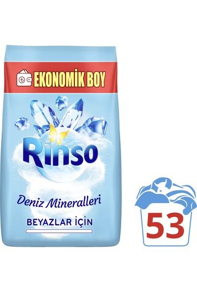 Rinso Deniz Mineralleri Beyazlar için Toz Çamaşır Deterjanı 8 KG 53 Yıkama
