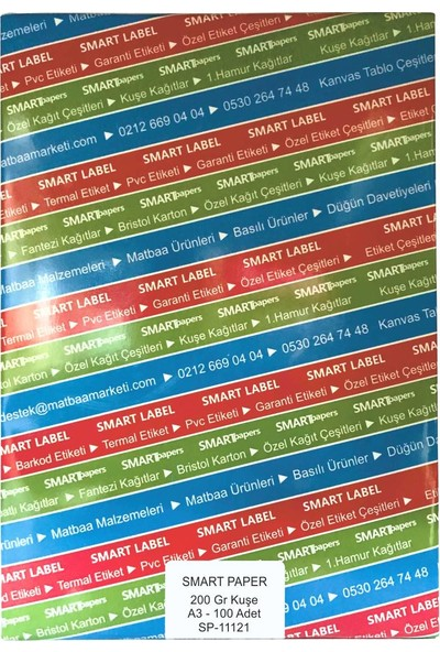 Smart Paper Kuşe Gramajlı Kağıt A3 100'lü 200 gr