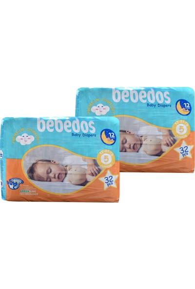 Bebedos 2'li Ekonomik Paket Bebek Bezi 5 No. Junior Boy 64'lü
