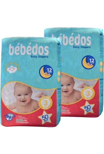 Bebedos 2'li Ekonomik Paket Bebek Bezi 3 No. Midi Boy 100'LÜ