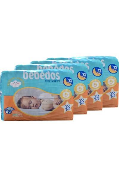 Bebedos 4'lü Ekonomik Paket Bebek Bezi 5 No Junior Boy 128'LI