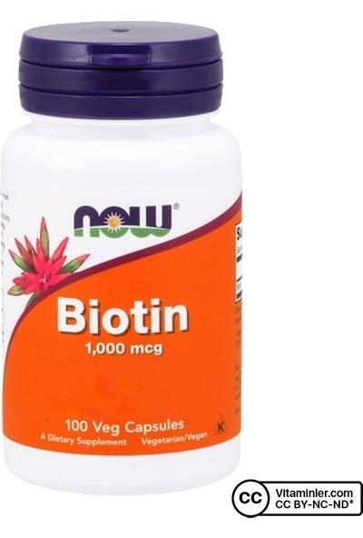 Now Biotin 1000 Mcg 100 Kapsül