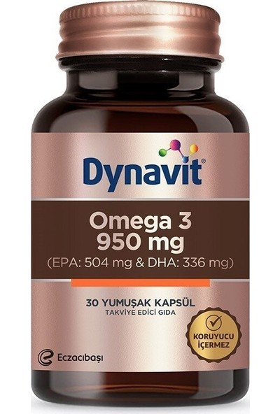 Eczacıbaşı Dynavit Omega 3 950 Mg Balık Yağı 30 Kapsül
