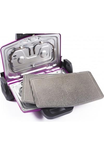 Arnica Granit Izgaralı GH26122 Pembe 1750 W Tost Makinesi