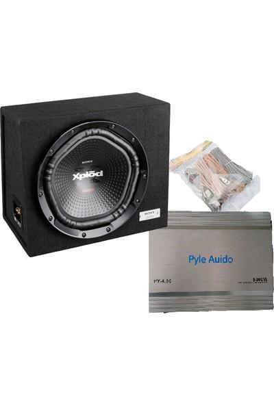 Sony 1800W Kabinli Bass ve Pyle 4 kanal Amfi + Kablo seti