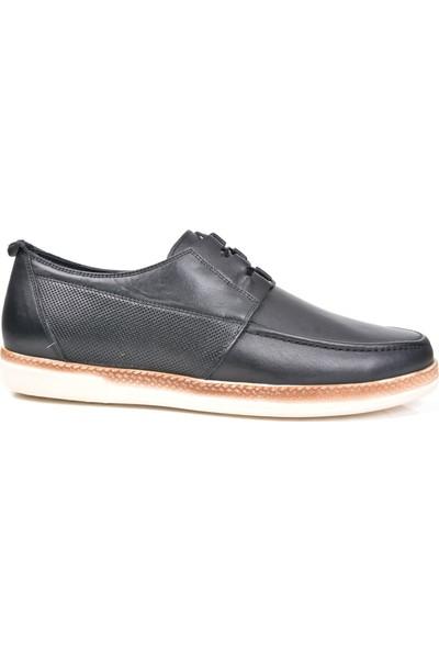 White World 1910 Deri Siyah Günlük Erkek Ayakkabı