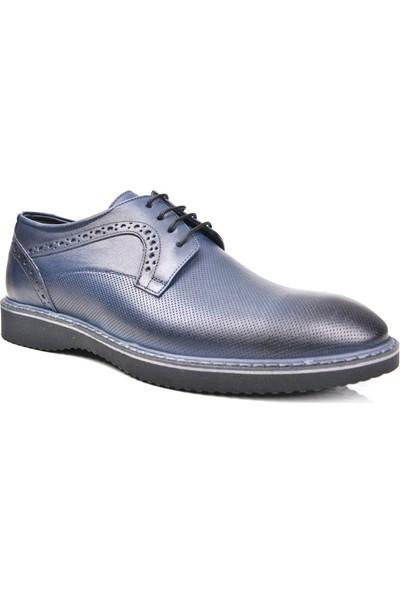 White World 1892 Deri Lacivert Günlük Erkek Ayakkabı