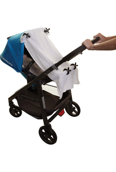 Dream Baby Bebek Arabası Puset Gölgelik Mandalı 4 Adet - Siyah