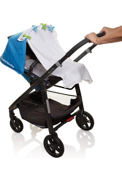 Dream Baby Bebek Arabası Puset Gölgelik Mandalı 4 Adet Mavi - Yeşil