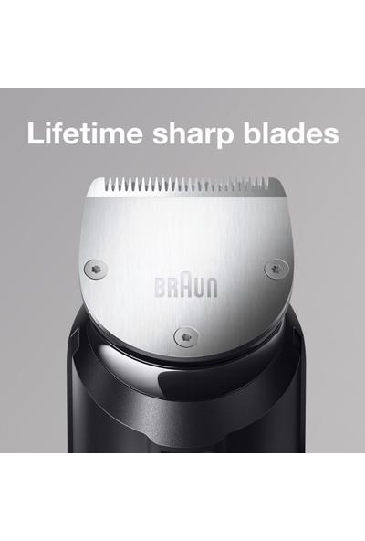 Braun BT 7940 Saç&Sakal Şekillendirici AutoSense Teknoloji Gümüş Kablosuz Islak&Kuru Özel Çanta + Gillette