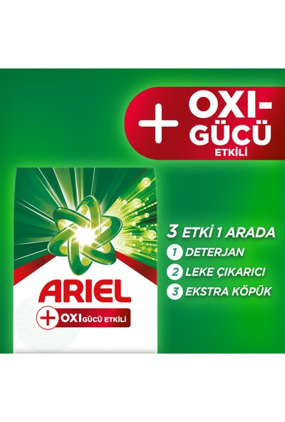 Ariel Oxi Leke Çıkarıcı Etkili Toz Çamaşır Deterjanı 1,2 kg