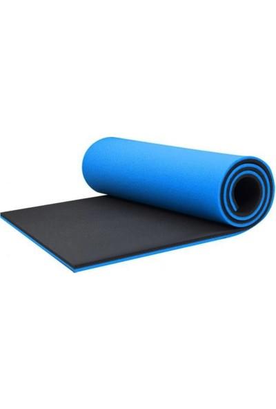 Dafron Yogamat 180 x 60 x 1,6 cm DF170 Mavi - Siyah