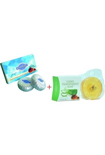 Gano Excel Gano Transparent Soap, Şeffaf Sabun (1 SABUN*100 Gr) + Ganoderma Lucidum ve Keçi Sütlü Sabun (2 SABUN*100 Gr)