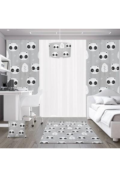 Dekogen Açık Zemin Utangaç Pandalar Çocuk Odası Halısı - 80x150