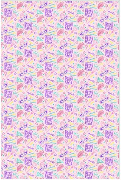 Dekogen Karışık Davul Çocuk Odası Halısı - 80x200