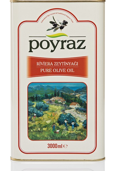 Poyraz Riviera Zeytinyağı 3 Lt