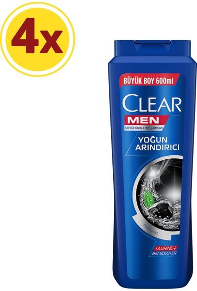 Clear Men Şampuan Yoğun Arındırıcı Şampuan Kömür 600 ML X4