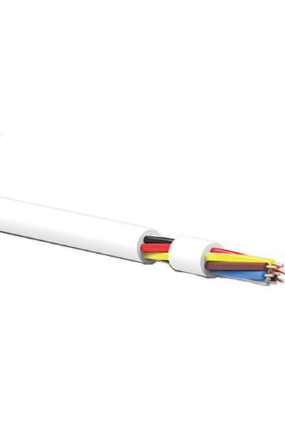 Hünka Kablo Dt8 Diafon Kablosu 8 x 0,22 mm Beyaz 10 m