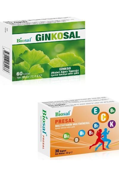 Biosal Ginkgo Biloba Tablet + Multivitamin Kapsül