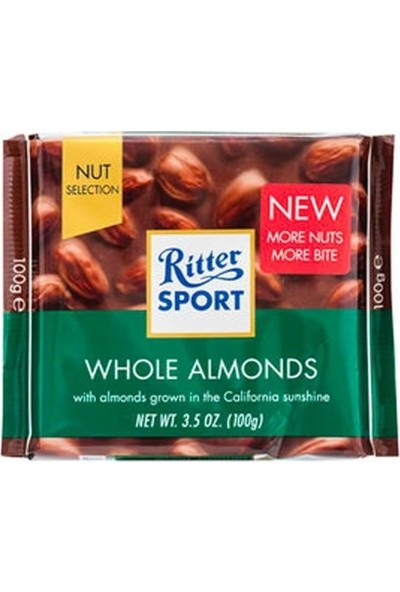 Ritter Sport Tane Bademli Sütlü Çikolata 100 gr