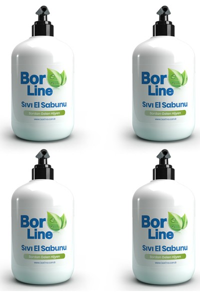 Bor Katkılı Sıvı El Sabunu 500 ml 4 Adet