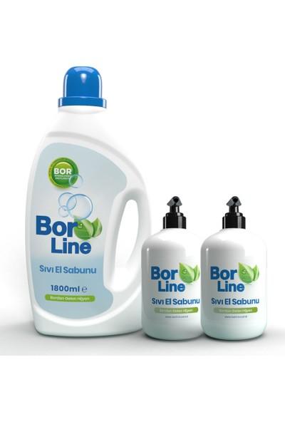 Bor Katkılı Sıvı El Sabunu 1800 ml - 500 ml 2 Adet