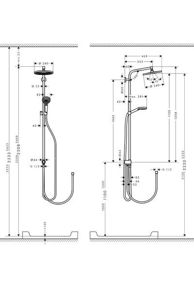 Hansgrohe Crometta S240 Reno Duş Kolonu