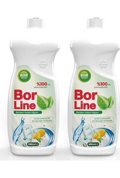 Borline Bor Katkılı 650 ml Bulaşık Deterjanı (2 Adet)
