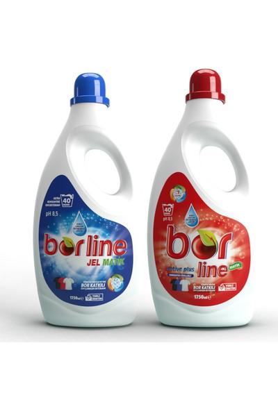 Borline Bor Katkılı Sıvı Deterjan Tüm Renkler 80 Yıkama 1,75 lt x 2 Adet