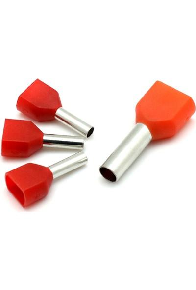 Nexo Çift Girişli İzoleli Kablo Yüksükleri Gri 2 x 2,50 mm2 250'li