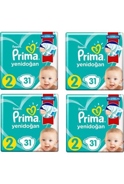 Prima Bebek Bezi Aktif Bebek 2 Beden 31 x 4 - 124 Adet