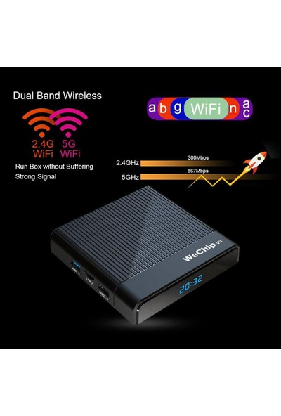 Wechip V9 Android Tv Box 4gb Ram + 64GB Rom