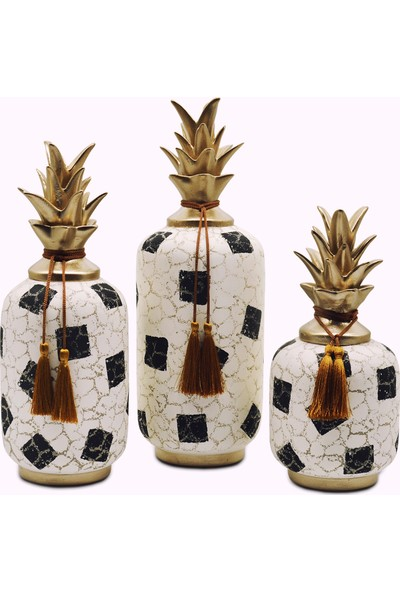 Ecehan Natürel Ananas Biblo Set