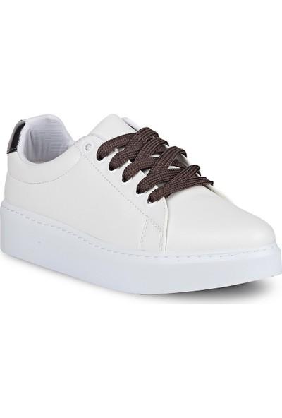 Crash Kadın Sneaker 63-107 Beyaz Kurşun 36