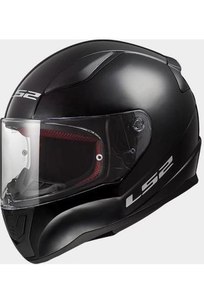 LS2 Motosiklet Kapalı Kask Full Face Rapid XL Beden Siyah Ff 353