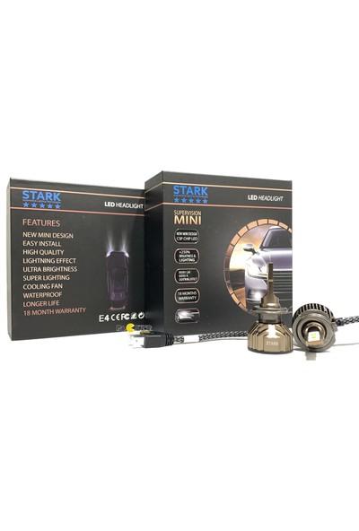 Stark Supervision Mini / Slim H7 Csp LED Xenon 8000 Lümen Şimşek Etkili 6000 Kelvin Beyaz Renkli Far Ampulü