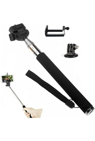 Trendfone Aksiyon Kameraları Için Kafa Bandı Göğüs Bandı Monopod ve Telefon Klipsi