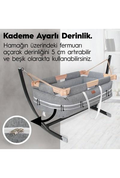 Kiwi Milano Metal Platformlu Bebek Hamağı - Kahverengi