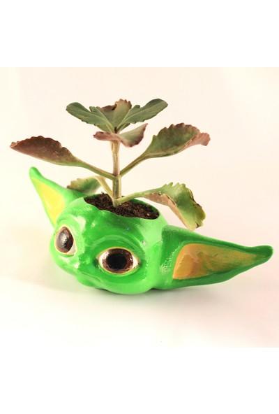 Propixel Baby Yoda Kaktüs Sukulent Saksısı