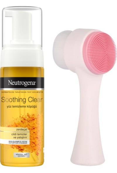 Neutrogena Cilt Temizleme Fırçası ve Soothing Clear Yüz Temizleme Köpüğü 150 ml