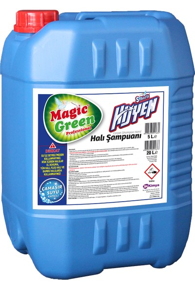 Magic Green Sihirli Hijyen Halı Şampuanı L100 20 Lt