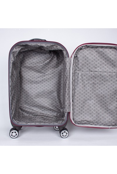 Moda Md 8 Tekerlek Kumaş Kabin Boy Valiz Bordo