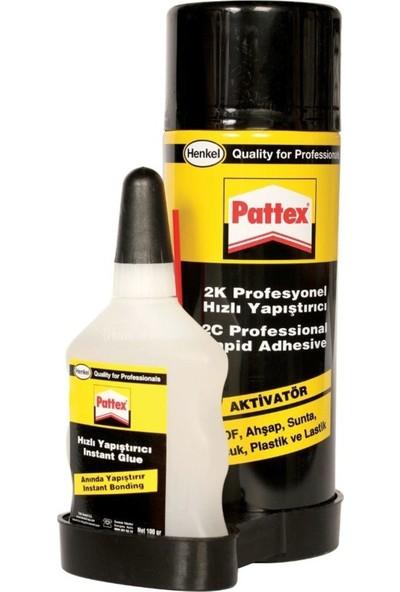 Pattex 2K Profesyonel Hızlı Yapıştırıcı 400 ml Sprey + 100 ml Yapıştırıcı